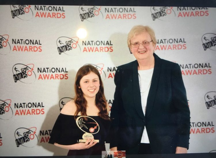 Leah with StreetGames CEO, Jane Ashworth OBE